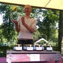 Okke Amerongen op de Fruitdag 2010 bij Slot Zuylen